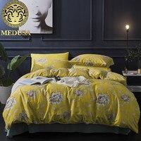 Medusa 60s Damask Ethic Flower King Queen Size Bed Linen Set White JY171106