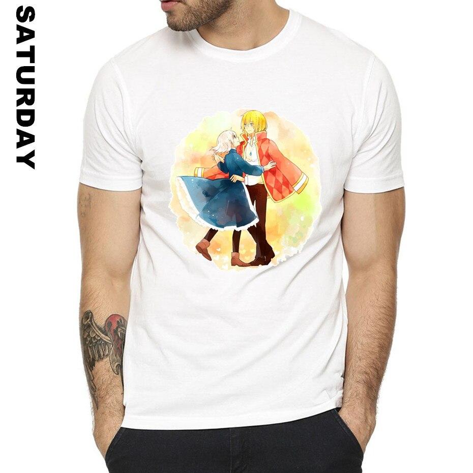 Miyazaki Hayao Howl's Moving Castle Design T Shirt for Men and Women,O-Neck Short sleeves Summer Casual T-Shirt Men's T Shirt