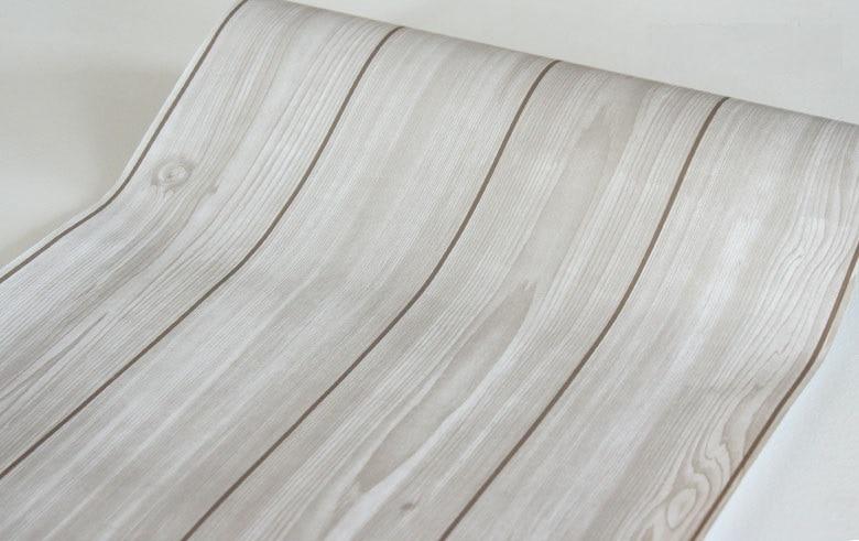 cm metros rollo pvc textura de madera del arte de madera papel pintado