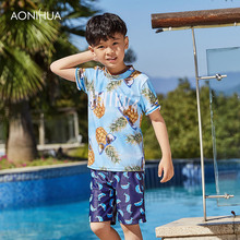 AONIHUA 2018 Bathing Suit For Boy Kids Swimsuit Baby Clothing Rash Guard Childrens Clothes Split Boys Sports Sets 1043
