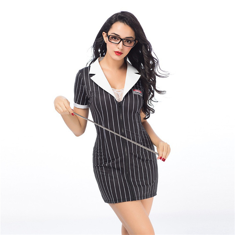 Image 3 - Women Porno Sexy Costumes Teacher Uniform Cosplay Lingerie Hot Erotic Uniform Sexy Babydoll Lingerie Erotic Cosplay Underwear-in Babydolls & Chemises from Novelty & Special Use