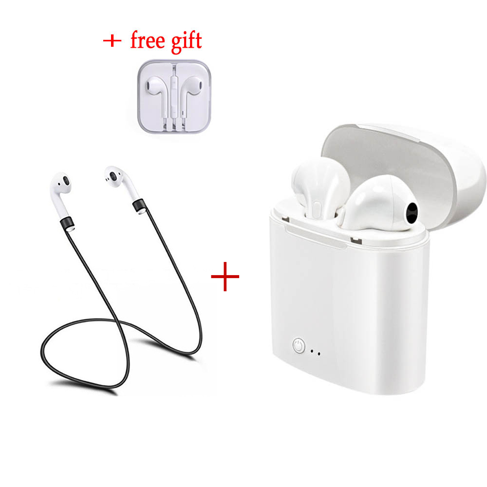 For Apple Air I7S TWS Earbuds Ture Wireless Bluetooth Earphones Twins Earpieces Music Headset for Apple IPhone X 8 8 Plus Huawei