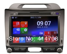 Automobile Dvd Gps for kIA SPORTAGE R 2011 2012 2013 2014 2015 + steering wheel management+ free map+ipod+ phonebook+bluetooth music