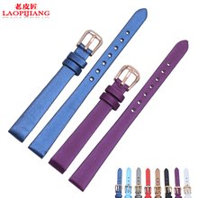Color silk Ladies Watch Strap 6 8 10mm ultra-thin watch strap accessories