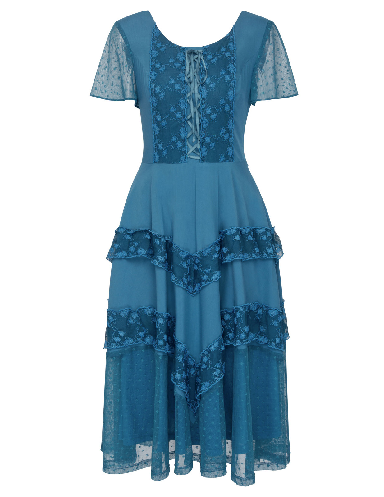 grace karin Victorian Dresses Women Summer Black Cerulean Lace ...
