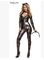 FREE SHIPPING Halloween Costumes For Women Leopard Cat Siamese Clothing DJ Costume