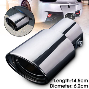 Universal Car Rear Round Exhaust Pipe Tail Muffler Tip Chrome Stainless Steel Automobile Muffler Tip Replacement Car Accessories(China)