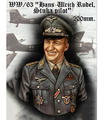 WWII King's Stuka 1/9 Hans - Ulrich Rudel Colonel Figures Resin Bust (without base)     resin kit new coming best quality