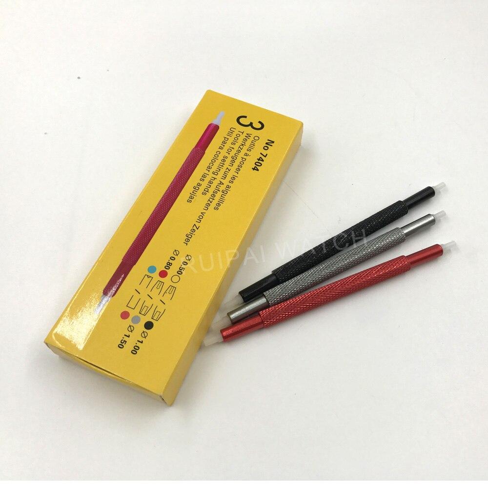 최고의 프로모션!! 3 개/몫 7404 시계 손 pressers 푸셔 피팅 세트 키트 시계 제조 업체 수리 도구 5 크기 우수한 품질