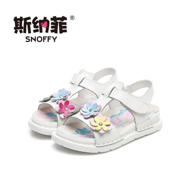 bf7eff002bde5 Snoffy Princesse Bébé Sandales Filles D été Plage Chaussures Sandale Filles  Enfant Fleur Conception Enfants