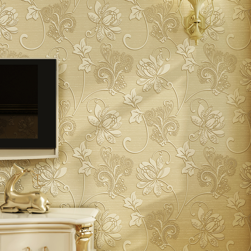 3d Wallpaper For Living Room In India Luxury Italian Style Modern 3d Embossed Background