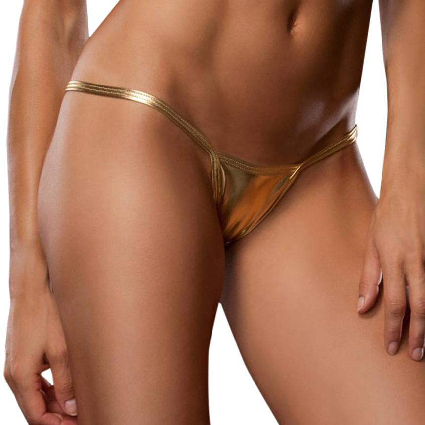 KANCOOLD Special 10 Colors Sexy Metallic Lingerie G-String Lady Micro Thong Underwear Pants Bikini Briefs no16