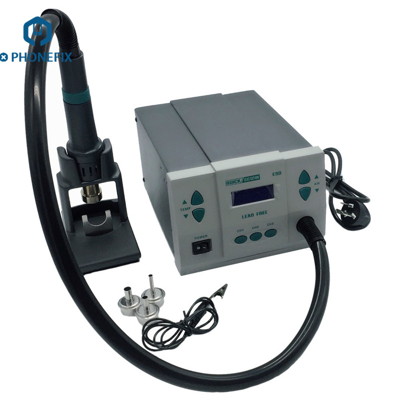 PHONEFIX Quick 861DW Hot Air Rework Station QUICK Spot 861DW For Mobile Phone Motherboard Soldering Repair Tools Kit