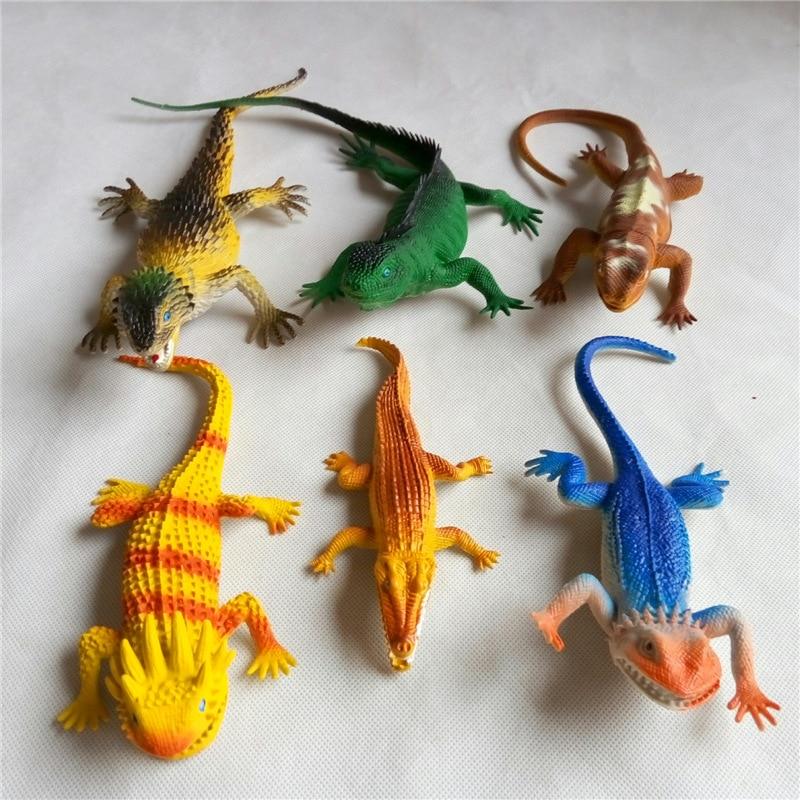 lizard Crocodile Lifelike Simulation animal sound plastic Halloween Prank Hoax 17-33CM kids toys 6pcs/set Free Shipping