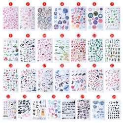 УФ из эпоксидной смолы Изделия из смолы материалы наполнитель Стикеры цветочный Красочные Прозрачный Кристалл животных украшения в форме