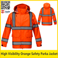 High quality reflective safety workwear jackt work orange jacket safety clothing free shipping