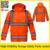 Segurança de alta qualidade reflexiva workwear trabalho jackt jaqueta laranja roupas de segurança frete grátis
