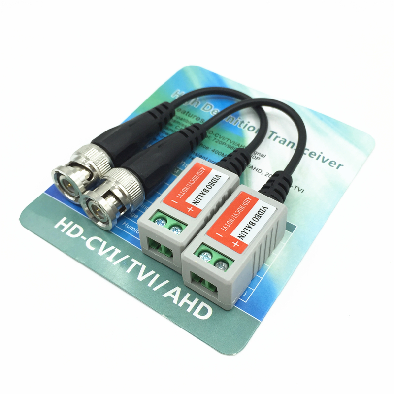 1 Pair CCTV Video Balun Twisted BNC Passive Transceivers UTP Balun BNC Cat5 CCTV UTP Video Balun Up To 300M Range,sn:202HD