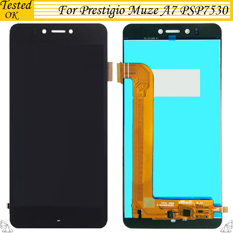 Touch Screen Tested Assembly Repair Parts 5.3 Inch Hot Sale 50-70% OFF Mobile Phone Parts Dashing Black White Gold For Prestigio Muze A7 Psp 7530 Duo Psp7530 Duo Lcd Display Cellphones & Telecommunications