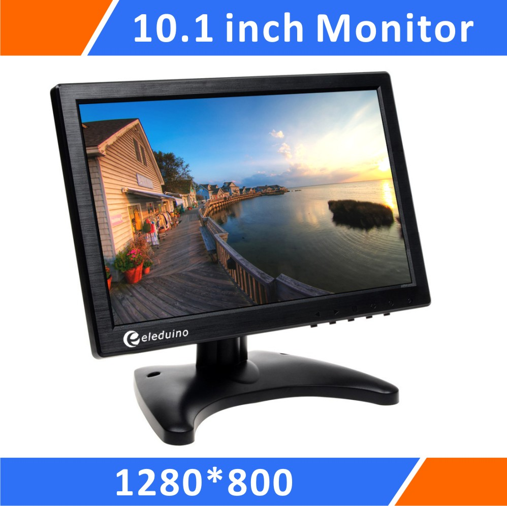 Raspberry pi 10.1 Inch Monitor Screen Dispaly 1280 x 800 HD screen resolution For PC CCTV Home Security with HDMI/VGA/BNC/AV hdmi vga av audio usb fpv control board 13 3inch 1280 800 b133we04 lp133wx2 lcd screen model lcd for raspberry pi