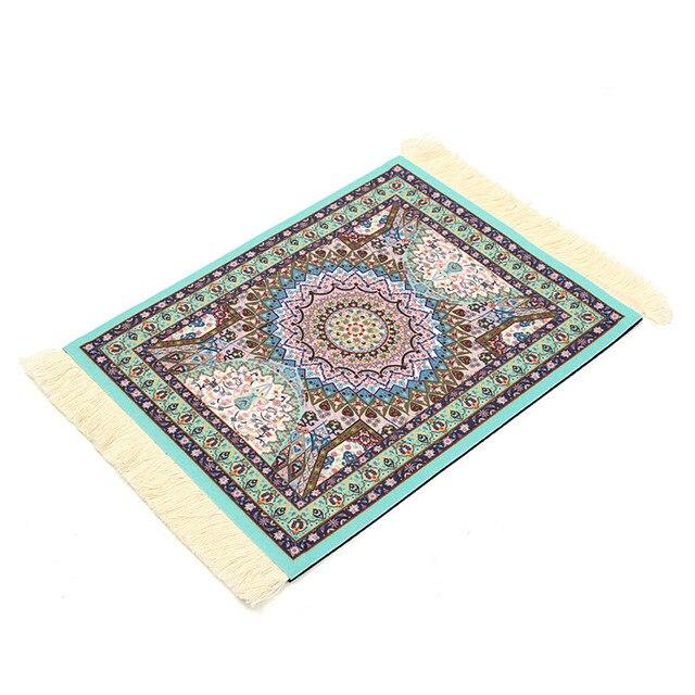 Baumwoll Teppich Gewebt mode mini blauen baumwolle persischen stil gewebt rug mouse pad