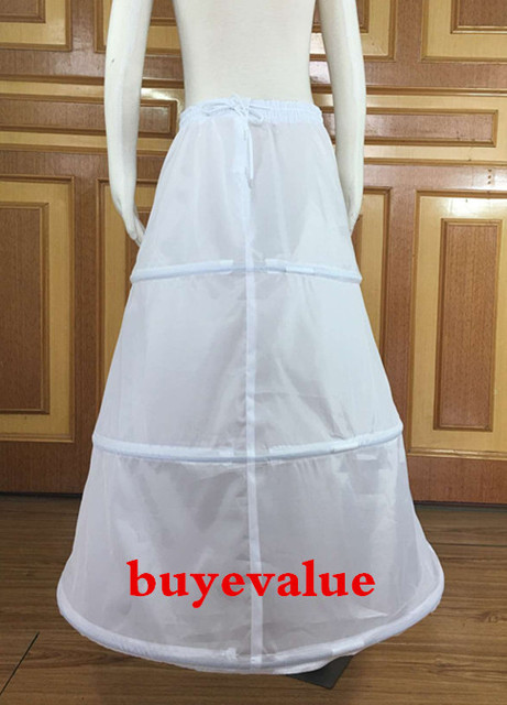 3 hoops Wedding Dress Petticoat Underskirt Skirt Fashion Ballet ...
