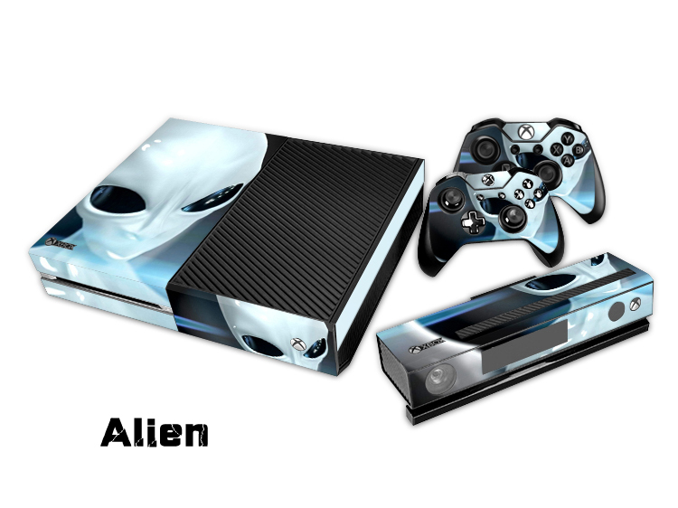 Alien Protective Vinyl Decal Skin/Stickers Wrap For xbox one Console+ 2 Controllers covers