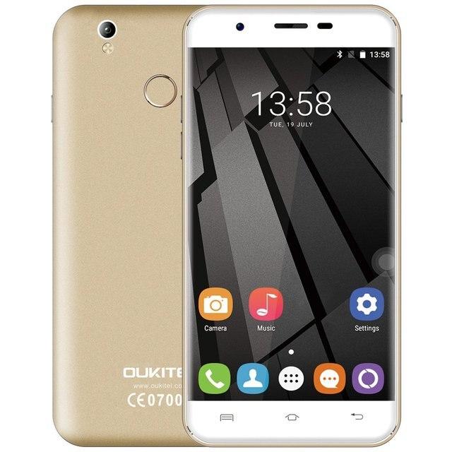 "Original Oukitel U7 Plus Android 6.0 5.5"" LTE 4G Smartphone MTK6737 Quad Core 2GB 16GB Fingerprint Scanner Dual SIM Cell Phone"