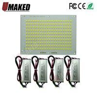 1set 100% Full Power LED Floodlight PCB 10W 20W 30W 50W 100W 150W 200W SMD5054 led board Aluminum plate for led floodlight Floodlights     -