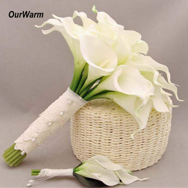 OurWarm 10Pcs Latex Artificial Flowers Calla Lily For Wedding Decoration  Valentineu0027s Day Present Fake Flowers Home