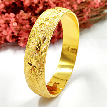 12mm Thick Openable Yellow Gold Filled Bangle