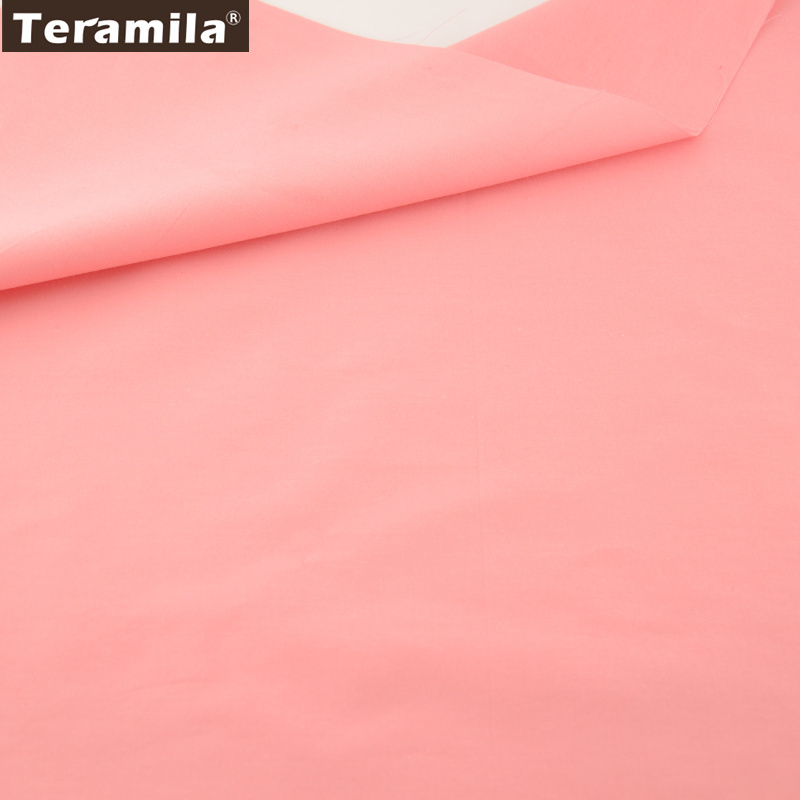 Cotton Fabric Fat Quarter Noble Solid Weak Pink Color 100% Cotton Good  Quality Home Textile Material Bed Sheet Patchwork twill 8f1dd23803d