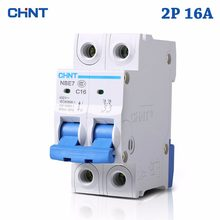 HOT SALE 2P 16A 230V 50HZ Mini Circuit Breaker MCB C16 C-type 36mm Overload And Short Circuit Protection Cutout Switch Chopper