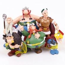 Clássico frança dos desenhos animados, aventuras de asterix pvc, figuras, brinquedos, crianças, presentes, 6 pçs/set