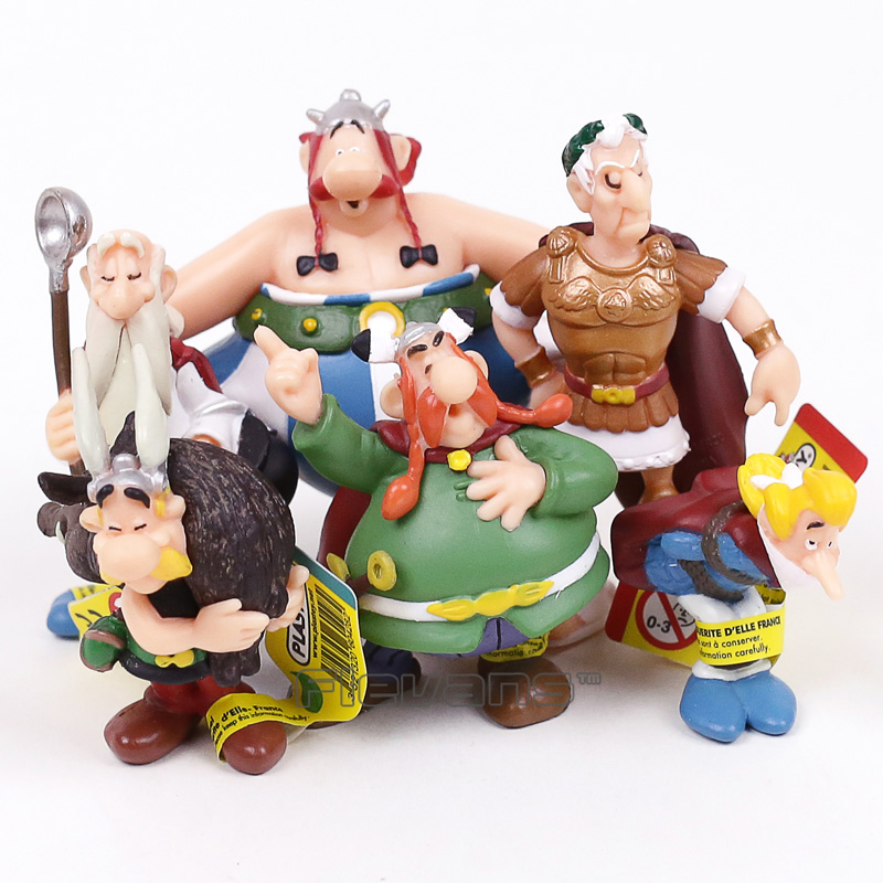 Classic France Cartoon The Adventures of Asterix PVC Figures Toys Kids Childrens Gifts 6pcs/set image