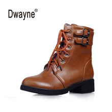 Good Quality PU boots Women Boots zapatos mujer Ankle Boots for Women Autumn Winter Boots botas