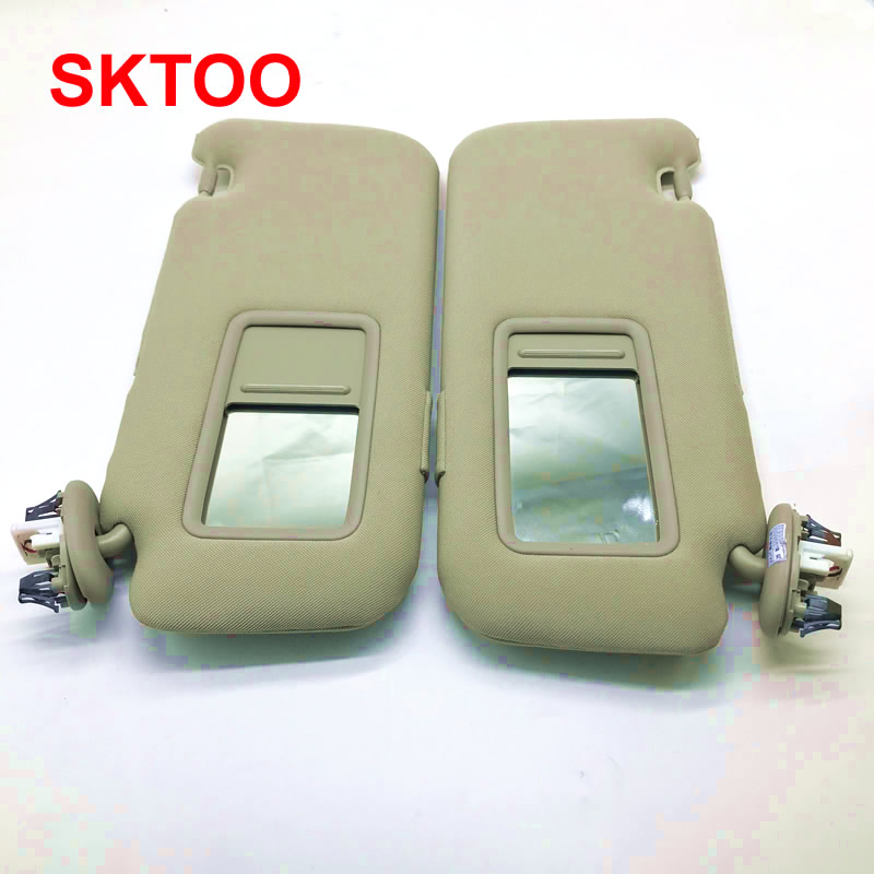 SKTOO for Toyota 2007-2013 Corolla with a make-up mirror sun visor car sun visor Without the sun visor lamp