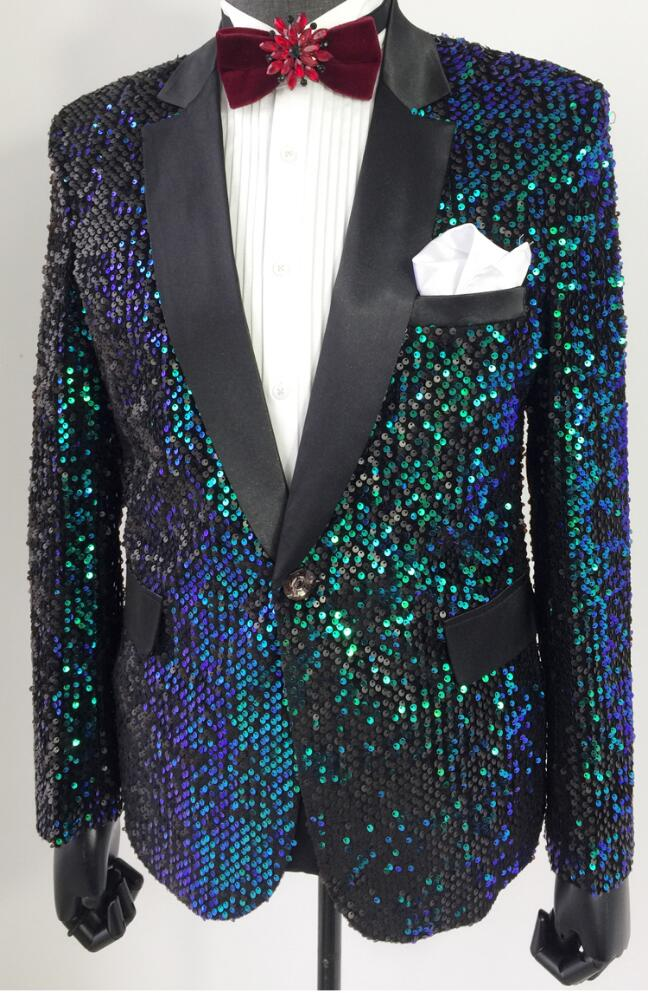 Hommes Danse Homme De Chanteurs Paillettes Scène Pour Mode Bleu Masculino Robe Les Blazer Étoile Costumes Vêtements Veste Style Conceptions Ib7yY6gvf