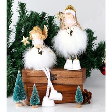 OurWarm 2 Style White Christmas Angel Decoration New Year's Toys Christmas Gifts Decorations for Home Decoration Accessories