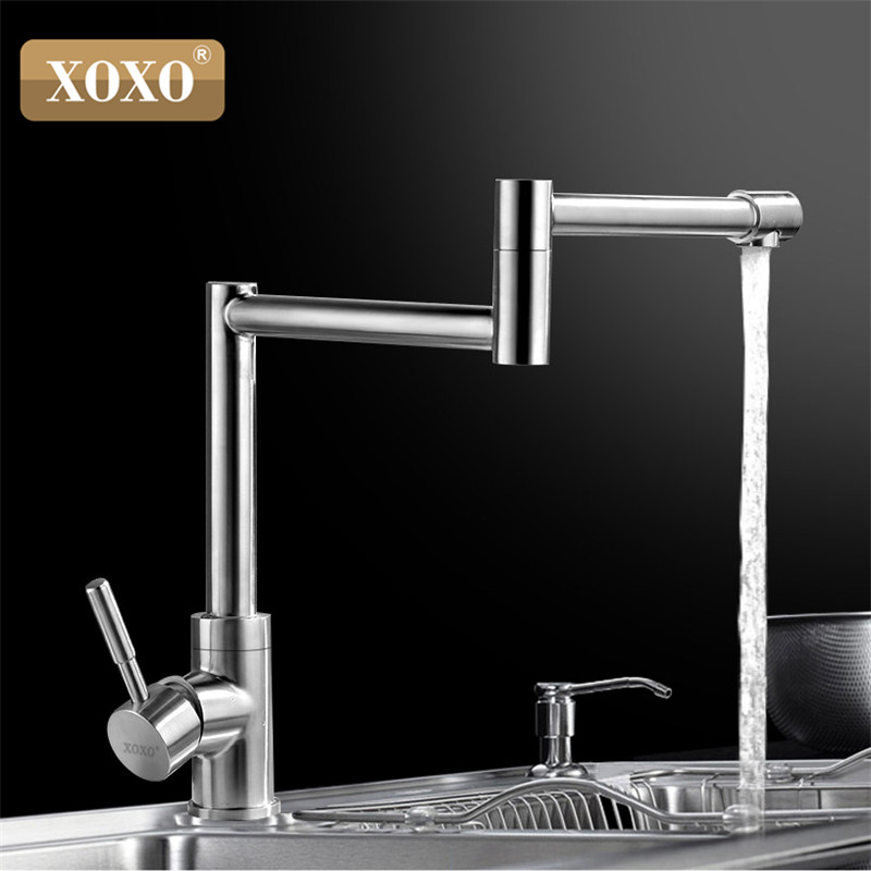 XOXO 304 stainless steel swivel head dish washing basin faucet hot and cold wash face basin shampoo puckering 83026-2 dish best served cold