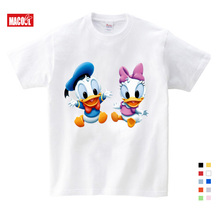 New Anime Cute Mouse T-shirt Cartoon Children Tops Funny Animals Donald Duck Goofy Dog T Shirt