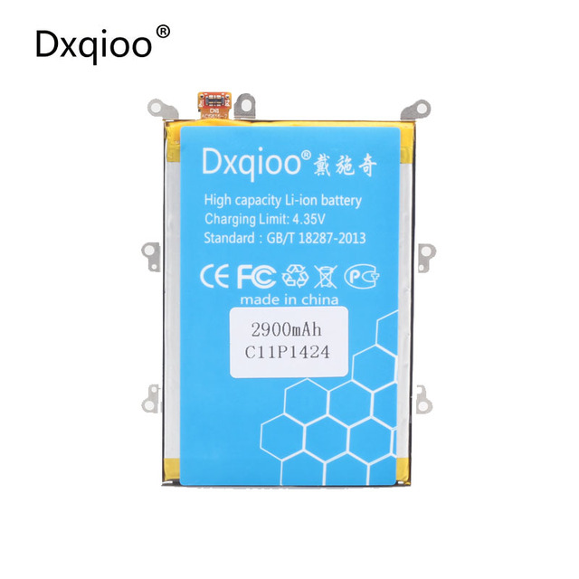 Dxqioo Mobile phone battery  fit  for ASUS  Zenfone 2 5.5inch Z00AD Z00ADA ZE551ML ZE550ML Z008D C11P1424 2900mah batteries