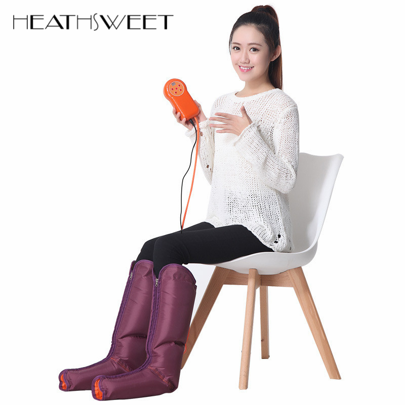 Healthsweet Electric Air Compression Leg Massager Leg Wraps Foot Ankles Calf Massage Machine Promote Blood Circulation Pain Ease electric antistress therapy rollers shiatsu kneading foot legs arms massager vibrator foot massage machine foot care device hot