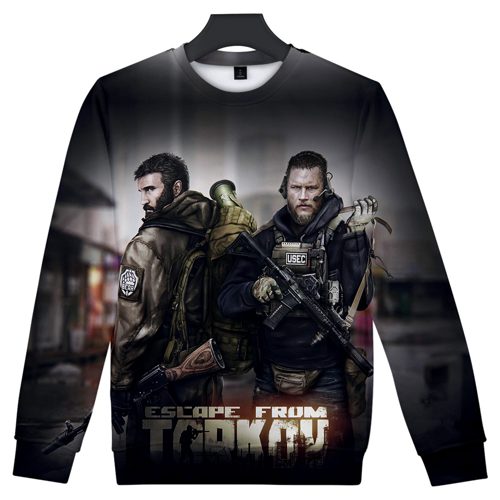 Escape From Tarkov Capless Sweatshirts Men/Women Harajuku Fashion Long Sleeve 3D Printed O-Neck Sweatshirt Streetwear Clothes