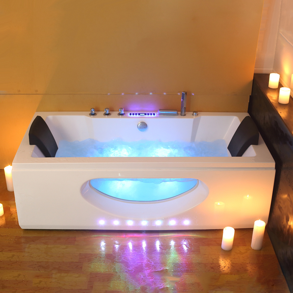 6132 1700mm Whirlpool Bath Piscine Shower Massage Bathtub Spa ...