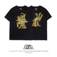 TEE7 T shirt manches courtes, slim, pour homme, imprimé anime japonais, saint seiko, coton, col rond décontracté