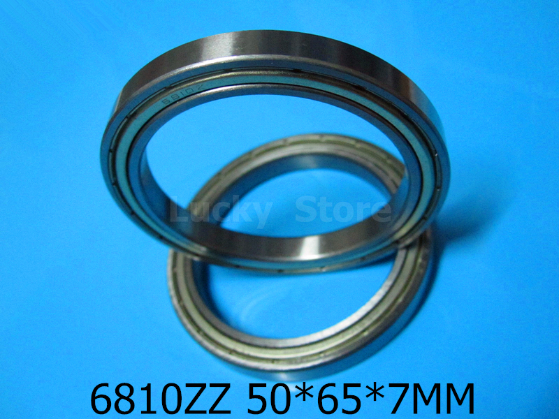 6810ZZ bearing Metal sealed bearing Thin wall bearing 6810 6810ZZ 50*65*7 mm chrome steel deep groove bearing