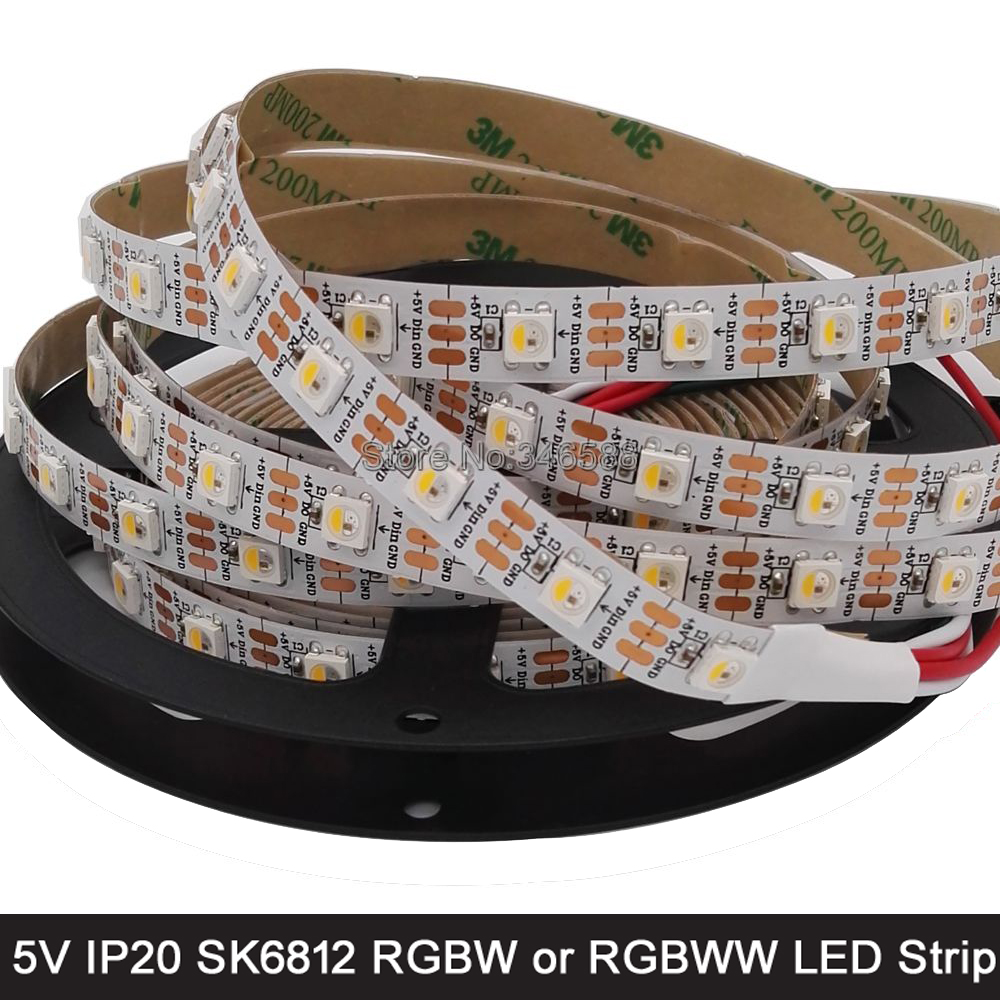 Constructive Dc5v 5m 5050smd 60led/m Sk6812 Ic 4 Color In 1 Chip Rgbw Or Rgbww Individually Addressable Led Pixel Strip Ip20/ip67 Waterproof Led Strips