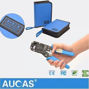Image 3 - Aucas Ethernet כבל כלי RJ11 RJ45 Cat5 Cat6 מלחץ כבל רשת לחיצה כלי סט מלחץ פלייר כלי סט ערכת רשת כלי תיק