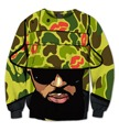 Real USA Size Chris Brown 3D Sublimation print Crewneck Sweatshirts  fleece streetwear plus size